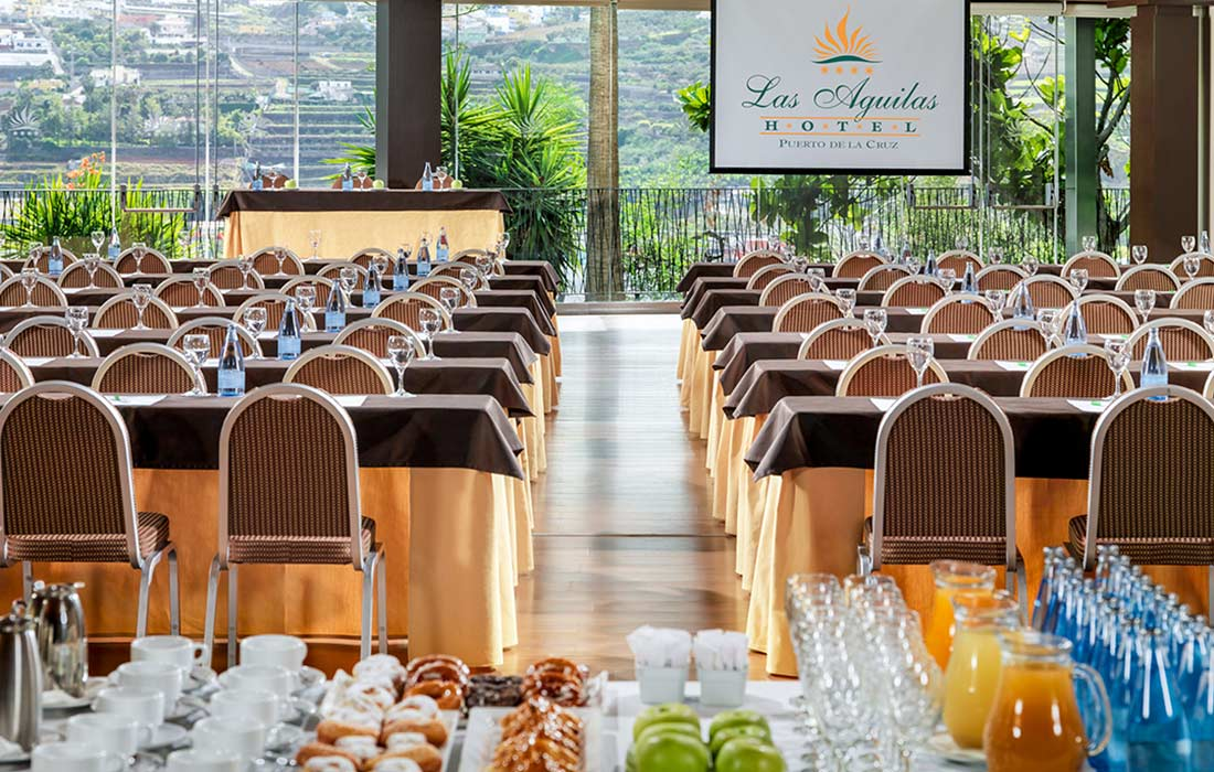 we organize your event in the hotel las aguilas